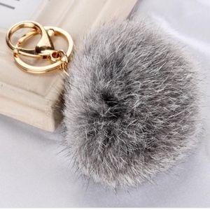 Accessories - COMING SOON! Rabbit Fur Pom Pom Key Chain